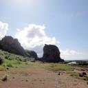 タチジャミ 大き岩塊に見えるけど、横から見るととても薄い。