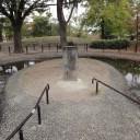 鵺池 鵺を射抜いた矢をここで洗ったらしい。