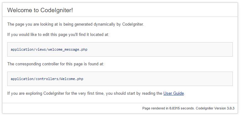 codeigniter_303_init